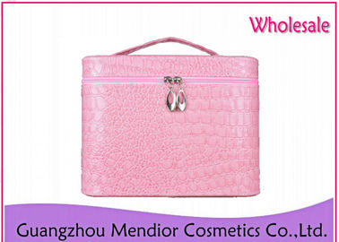 Modeling Makeup Pouch Bag , Pink Convenient Vanity Holographic Makeup Bag