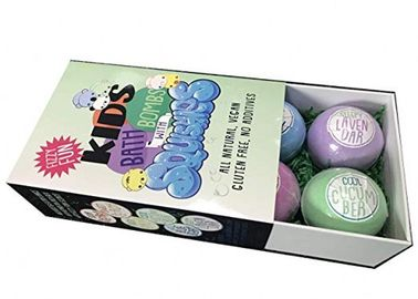 Multicolor Child Friendly Bath Bombs With Toys Inside Natural W / Shea Butter And Essential Oils