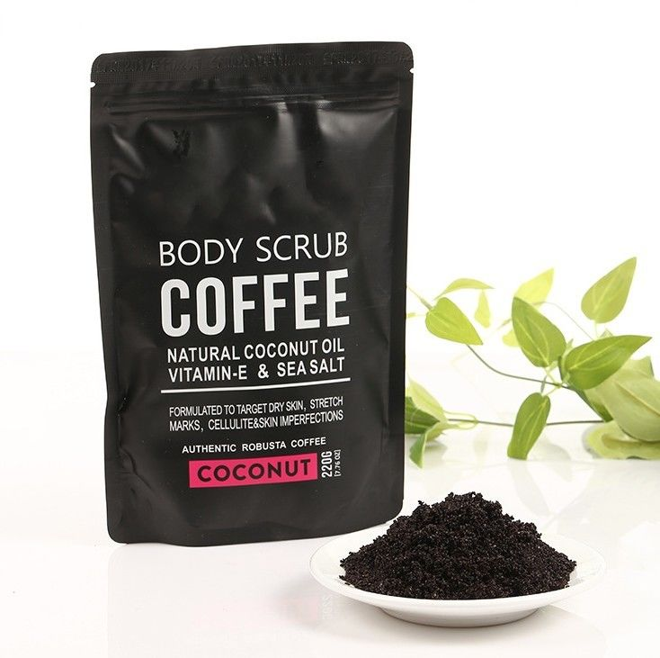 Coconut / Coffee Natural Body Scrub Brightening Stretch Mark For Adult