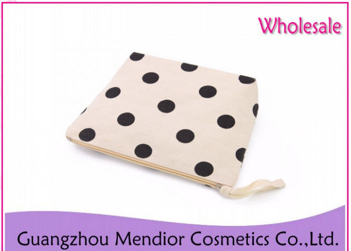 Cotton Canvas Makeup Accessories Bag Simple Casual Travel Makeup For Lady