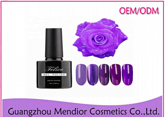 Mirror Face Led Gel Nail Polish , Gradual Changing Purple Hard Gel Nail Polish