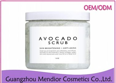China Avocado Brightening Body Scrub With Vitamin C / Avocado Oil Dead Skin Revealing factory
