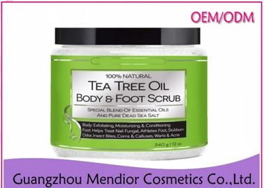China Tea Tree Oil Natural Body Scrub Foot Antibacterial Exfoliator Customized Size factory