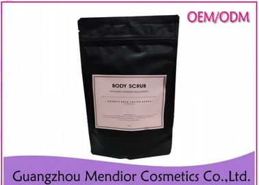 China Coffee Rose Natural Body Scrub With Rose Petals Deep Cleansing Black Color factory