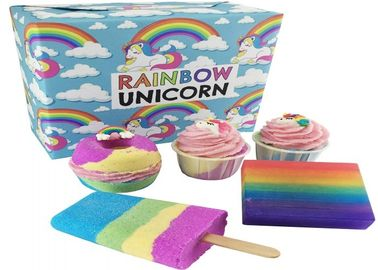China Rainbow Unicorn Soap Children 'S Bath Bombs With Essential Oil And Sea Salt factory