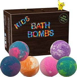 China Single Color Kid Safe Bath Bomb Set With Surprise Toys , 6 x 5oz Fun Assorted Colored XL Bath Fizzer factory