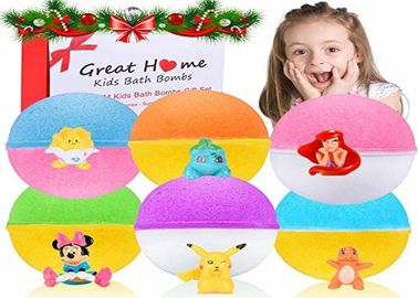 China Colorful Children 'S Bath Bombs With Surprise Inside / 6 XL Bubble Bath Fizz Balls factory