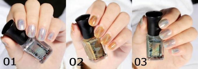 Diamond Laser Natural Gel Nail Polish No Light Holographic Easy Peeling Off