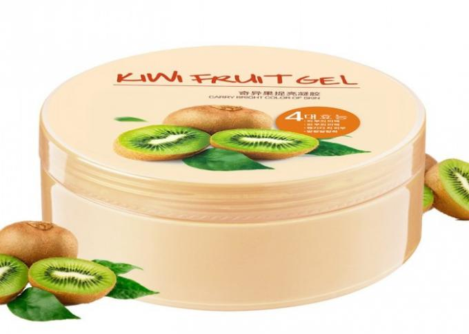Kiwi Fruit Sleeping Face Mask For Oily Skin , Free Wash Gel Soothing Face Mask