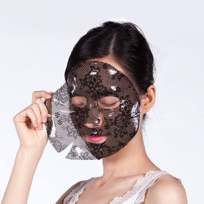 Crystal Collagen Lace Facial Mask For Women Increasing Elasticity Deep Hydrating