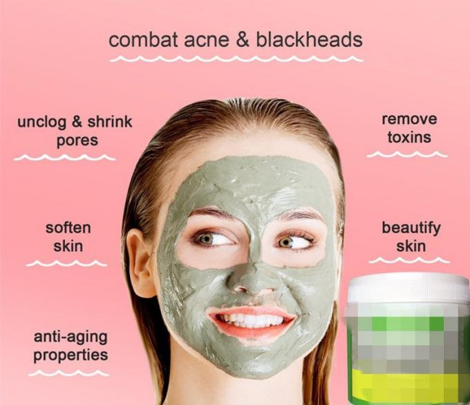 Green Mung Bean Mud Natural Face Masks For Combination Skin Oil Control