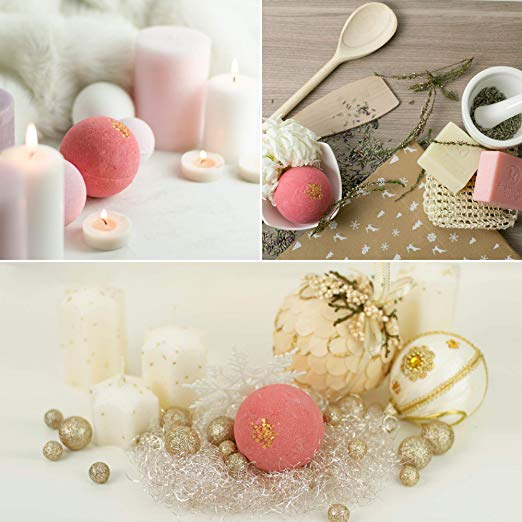 Eco - Friendly Christmas Gift Children 'S Bath Bombs / Large Bath Bomb Ornaments
